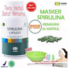 Diskon Besarmasker Spirulina Tiens Herbal Pemutih Wajah Paket 25 Kapsul