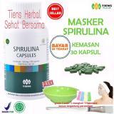Beli Masker Spirulina Tiens Herbal Pemutih Wajah Paket 30 Kapsul Dengan Kartu Kredit