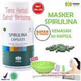 Masker Spirulina Tiens Herbal Pemutih Wajah Paket 50 Kapsul Original