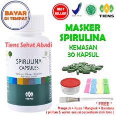 Model Masker Tiens Spirulina Herbal Pemutih Wajah Isi 30 Kapsul Terbaru
