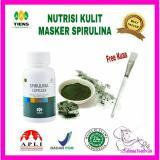 Katalog Masker Wajah Spirlina Pengehilang Jerawat Isi 20 Kaps Free Kuas Cantik Terbaru