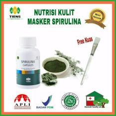 Jual Masker Wajah Spirlina Pengehilang Jerawat Isi 20 Kaps Free Kuas Cantik Branded Original