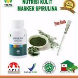 Review Masker Wajah Spirlina Pengehilang Jerawat Isi 20 Kaps Free Kuas Cantik Tiens Supplement