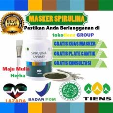 Pusat Jual Beli Masker Wajah Spirulina Herbal Tiens 10 Kapsul Obat Jerawat Free Kuas Plate Indonesia
