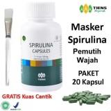 Jual Masker Wajah Spirulina Herbal Tiens 20 Kapsul Obat Jerawat Free Kuas Plate Murah Di Indonesia