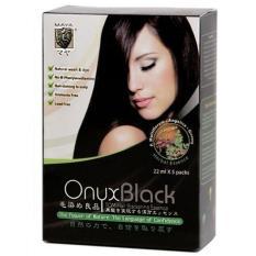 Maya Onyx Shampoo Cat Pewarna Rambut Shampo 1 Dus 5 Sachet BPOM Bahan Alami Herbal
