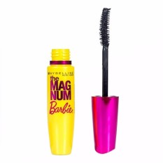 Spesifikasi Maybelline Magnum Barbie Waterproof Mascara Black Original