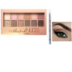 Maybelline The Blush Nudes Eyeshadow Palette & Make Over Eyeliner Pencil- 100% ORIGINAL GUARANTEE , Paket Hemat