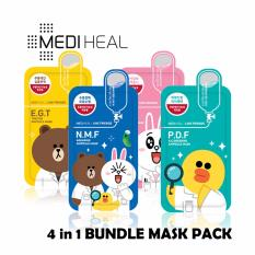 Mediheal Line Friends 4 In 1 Bundle Mask Pack Diskon Akhir Tahun