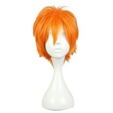 Men Short Anime Cosplay Hair Orange Wig Koushi Sugawara Nishinoya Yuu Hinata Haikyuu
