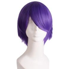 Jual Beli Online Pria Pendek Lurus Wig Cosplay Pesta Deep Purple