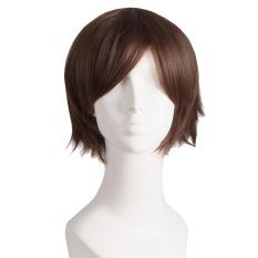 Harga Pesta Cosplay Wig Pria Pendek Lurus Coklat Muda Oem Terbaik