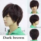 Jual Pria Netral Pendek Lurus Wig Penuh Dark Brown Intl Online Dki Jakarta