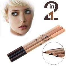 Menow Mn 2in1 Pensil alis / Eyebrow / Eyeliner dan Concealer Pencil Seri No.02 - 1Pc