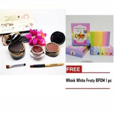 Mesh Kiss beauty Eyebrow Gel Cake FREE Wink White Fruty BPOM 1 pc