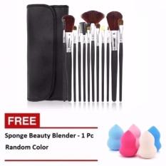 Mesh Kuas Make Up - 12 Pcs + Spon Beauty Blender - 1 Pcs