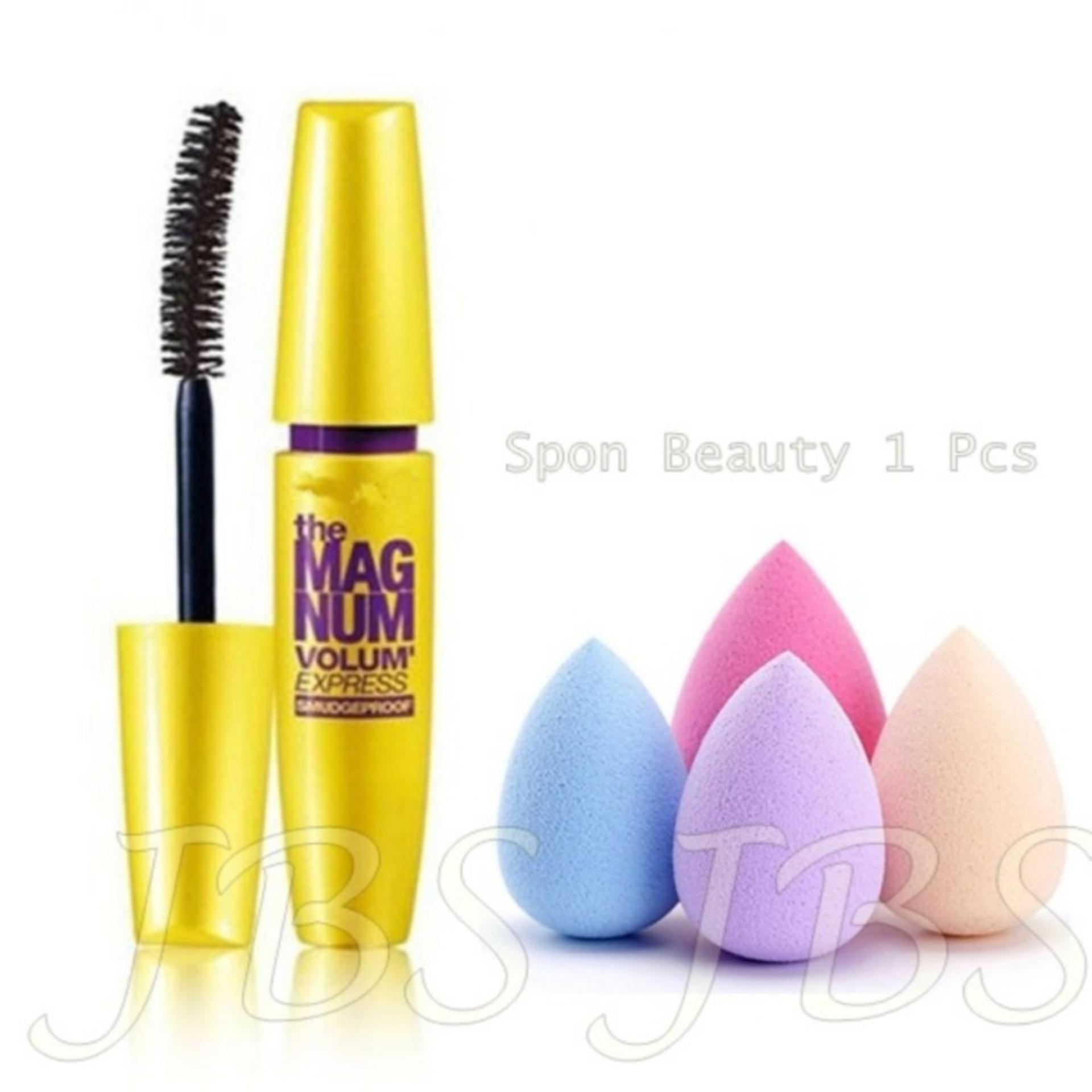 ... MESH Mascara The Fals Lash Volume Express - Mascara Waterproof - Hitam - Spon Beauty Blender