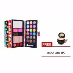 Mesh Pocket Make Up Pallete Small Eyeshadow Dompet FREE bedak 2in1 1pc