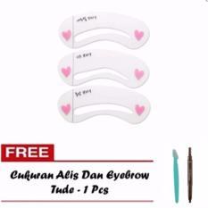 Mini Cetakan Alis Brow Class + Free Cukuran Alis Dan Eyebrow Tude