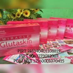 Miracle GLUTASKIN Glutathione + Collagen Super Anti Oksidan Anti Aging – 1 Mini Box Isi 5 Sachet Miracle Gluta Skin Kolagen Dr. Ummi Amizah – Rasa Strawberry