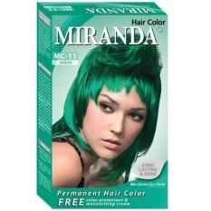Miranda Hair Color Mc11 Green 30Ml Miranda Diskon 50