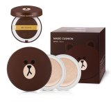 Kualitas Missha Line Friends Edition Magic Cushion Package 15G 1 Pc Refill Puff 1 Pcs Brown 21 Light Beige Missha