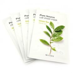 Harga Missha Pure Source Cell Sheet Mask 21G Set Of 5 Green Tea Free Pure Source Cell Sheet Mask Random Variant Yang Murah Dan Bagus