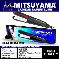 Promo Mitsuyama Catokan Rambut Pelurus Rambut Straighteners Hight Quality Plat Keramik Ms 5201