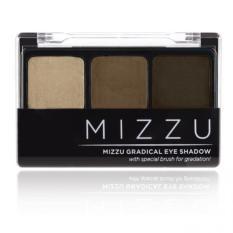 Mizzu Gradical Eye Shadow (03 Natural Mocha) - Warna Pigmented Efek Smoky Eyes Eyeshadow