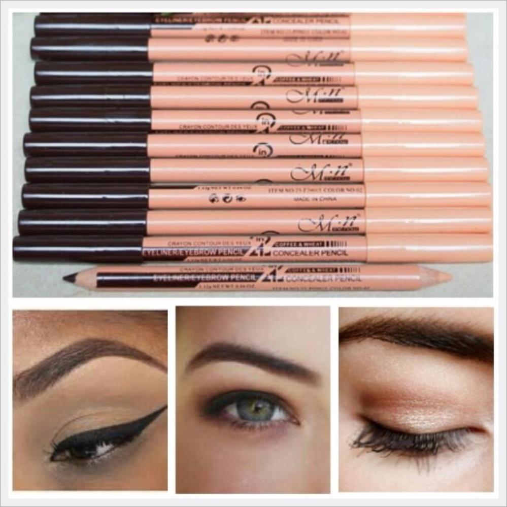 Beli sekarang MN Menow 2in1 Eyeliner / Eyebrow Pensil Alis + Concealer Pencil terbaik murah - Hanya Rp11.971