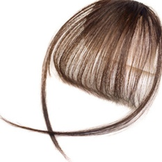 Moonar Fashion Wanita Fake Hair Extension Piece Clip On Depan Tembus Pandang Rapi Bangs (Dark Brown) -Intl