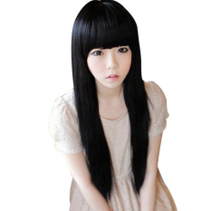 Jual Moonar Bang Rapi Lurus And Panjang Wig Hitam Moonar