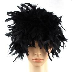 Moonar Wig Warna Bulu Lucu Turki Bulu Halloween Kostum Punk Retro Baru-Internasional