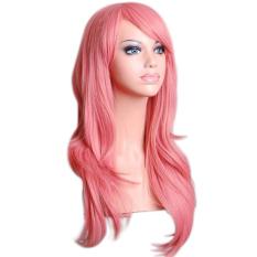 Harga Moonar Womens Ladies 70 Cm Long Curly Bergelombang Cosplay Kostum Anime Party Full S*xy Wig Pink Moonar Original