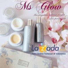 Ms Glow Whitening Series Paket Perawatan Memutihkan Wajah 100 Original Ms Glow Diskon 50