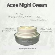 Spesifikasi Ms Glow Acne Night Cream Krim Malam Untuk Jerawat Cantik Sehat Ms Glow Terbaru