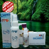 Jual Msi Paket 3In1 Msi Gold Beauty Face Mist Msi Serum Msi Aabun Collagen Herbal Keluarga Murah