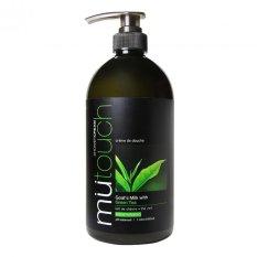Beli Mu Touch Shower Cream Green Tea Pump 1Lt Mu Touch Asli