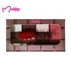 Mukka Make Up Kit Choco Love 6 Eyeshadow & 1 Blusher BPOM