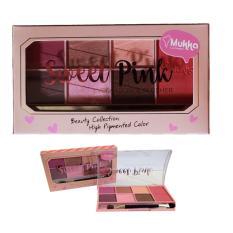 Promo Mukka Make Up Kit Eyeshadow Set Sweet Pink 6 Eyeshadow 1 Blusher Bpom Murah