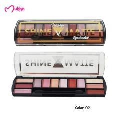 Mukka Make Up Kit Shine 6 Color V Matte 6 Color 02 Eyeshadow BPOM