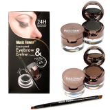 Spesifikasi Music Flower 24Hour Waterproof Original 2In1 Eyebrow Eyeliner Murah Berkualitas