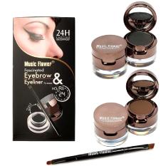 Harga Music Flower 24Hour Waterproof 2In1 Eyebrow Eyeliner Yang Murah Dan Bagus