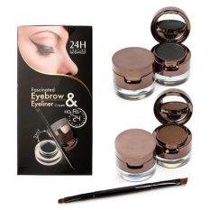 Beli Music Flower 24Hour Waterproof 2In1 Eyebrow Eyeliner Pensil Alis Original Dengan Kartu Kredit