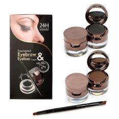 Review Toko Music Flower 24Hour Waterproof 2In1 Eyebrow Eyeliner Pensil Alis Original Online