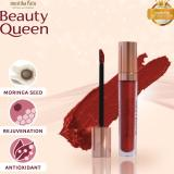 Jual Mustika Ratu Beauty Queen Series 4 Warna Metallic Matte Lip Cream Red Ori
