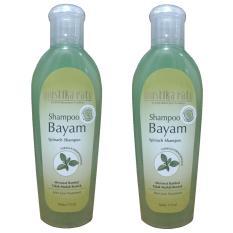 Mustika Ratu Shampoo Bayam Merawat Rambut Tidak Mudah Rontok 175ml 2pcs
