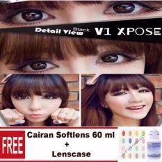 Mwalk V1 Expose Softlens - Black Free Lenscase + Cairan 60 ml