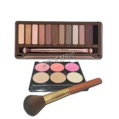N2 Eyeshadow 12 Warna Palette Blush On 3 Warna Powder Bedak 3 Warna Kuas 1Pc New Diskon 40