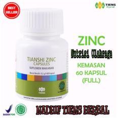 Harga Nadhif Tiens Zinc Capsules Nutrisi Fitnes Pembentuk Otot Badan Kemasan 60 Capsules Original Nth Free Onkir Online